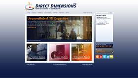 Direct Dimensions, Inc. - Concept, Design, Web Prototype