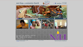 New Hope Community Church - Design, Web Development